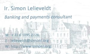 Simon Lelieveldt - contact details - payments and banking